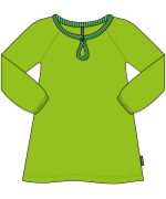 Maxomorra - Barnkläder - Tunika - Velour  grön