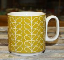 Orla Kiely - Porslin - Mugg - Linear stem yellow