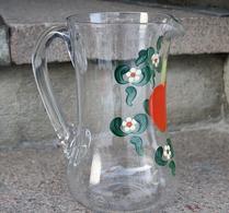 Glas - Kanna - Bemålad