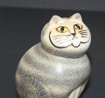 Keramikstudion - Lisa Larson - Katt -  Mia - Grå mini