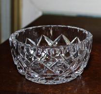 Glas - Kristall - Rutslipat - Sockerskål