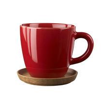 Höganäs kaffemugg med träfat röd
