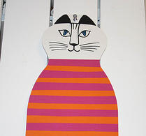 Lisa Larsons Katten Trull cerise/orange