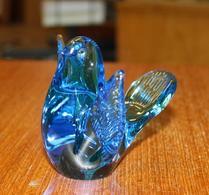 Glas - Fågel - Figurin - Turkosblå