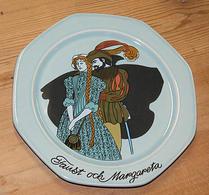 Höganäs - Keramik -  Väggtallrik - Faust och Margareta