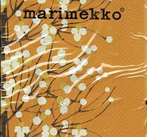 Marimekko - pappersservett - Lumimarja - konjak
