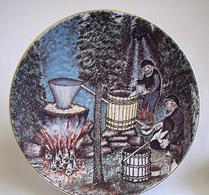 Arabia - Keramik - Konstnärstallrik 1981