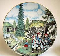 Arabia - Keramik - Konstnärstallrik - 1982