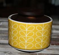 Orla Kiely - Porslin - Burk - Sockerskål - Linear stem yellow