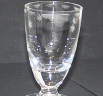 Glas - Snapsglas - Etsad dekor -  Stjärnor
