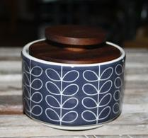 Orla Kiely - Porslin - Burk - Sockerskål - Linear stem dark grey