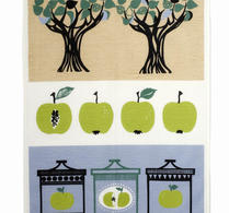 "Almedals - kökshandduk - ""Äppelsylt"" grön"