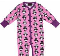 Maxomorra  - Barnkläder - Rompersuit - Pyjamas - Pingvin - Rosa