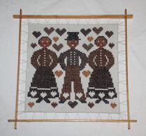 Textil - Broderi - Korsstygn - Pepparkaksfigur