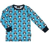 Maxomorra - Barnkläder - Tröja - Pingvin - Blå