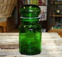 Retro - Förvaring - Glas - Grönt Glas - Mellanstor