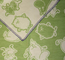 Klippan - Babyfilt - Mumin grön