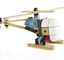 BRIO - Trälek - Byggsats - Helikopter
