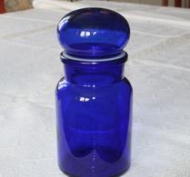 Retro - Förvaring - Glas - Blå - Mellanstor