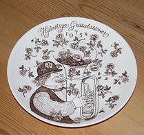 Gustavsberg - Porslin - Gratulationstallrik - 1975