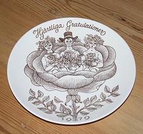 Gustavsberg - Porslin -  Gratulationstallrik 1979