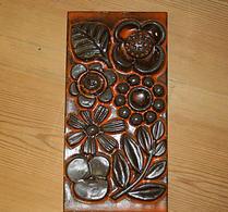 Upsala-Ekeby - Keramik - Väggtavla -  Fleur