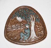 Keramik - Platta - Väggrelief