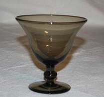 Glas - Skål - Fotskål - Brun