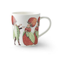 Design House - Porslin - Elsa Beskow - Mugg - The strawberry family