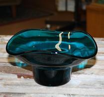 Skål - Glas -  Petrolblå