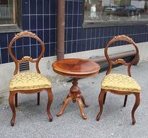 Stilmöbel - Rokoko - Bord - Stolar