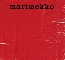 Marimekko - Servett - Pappersservett - Tulipunainen - Röd
