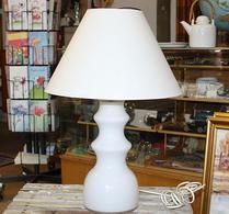 Lampa - Bordslampa - Glasfot