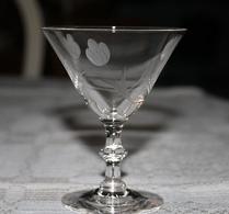 Glas - Madeira - Sherry - Etsad dekor - Tulpaner