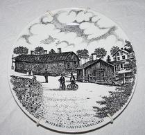 Gustavsberg - Porslin - Tallrik - Sollentuna förr och nu - Rotebro Gästgivaregård