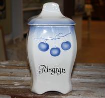 Gefle - Porslin - Speceriburk - Risgryn - Blå