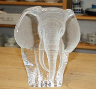 Glasblock Elefant