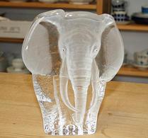 Glas - Glasblock - Elefant