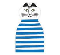 Lisa Larson - Skärbräda - Katten Trull - Blå