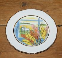 Porslin - Påsktallrik - Assiett - Påskris i fönster