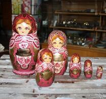 Babushkadockor - Matryoshkadockor - Ryska trädockor