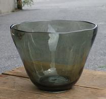 Glas - Skål - Salladsskål - Dovt grön