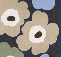 Marimekko - Pappersservett -  Unikko - beige/grön/blå