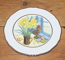 Porslin - Påsktallrik - Assiett - Påskliljor