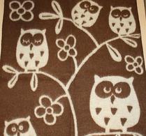 Klippan - Barnfilt - Ull - Tree owl - Brun