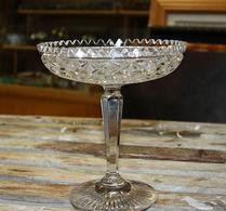 Glas - Pressglas - Fotskål - Skål