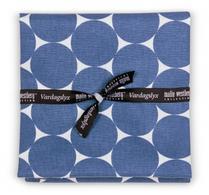 Malin Westberg - Textil -  Kökshandduk - Cirkel Blå