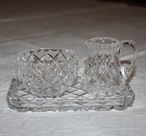 Kristall - Glas - Socker & Grädde - Bricka