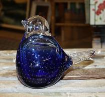 Glas - Fågel - Figurin - Blå