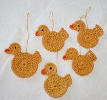 Påskpynt - Virkade - Kycklingar